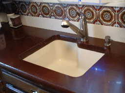 Cement Top w Undermount Sink